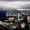 Manhattan skyline viewed from Queens in New York City