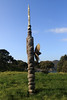 Rainbow Warrior Memorial - here atop the hill with distal below Matauri Bay shoreline - Northland region - North Island.