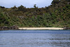 Dead Man Beach - during early-flood tide along the notheastern shorline of Stewart Island - with more than half the land area covered by podocarp and hardwood forests (with rimu, miro, kāmahi and southern rātā dominating) - Southland region.