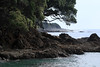 Rocky shoreline near the Nahunahu Stream - beyond to Waikawa Point - Bay of Plenty region.