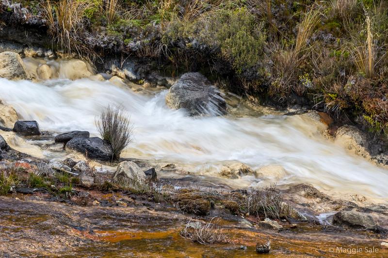Tangariro National Park. White silica falls