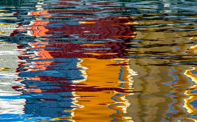 Harbour reflections in Wellington