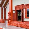 Maori meeting house at Te Puia, Rotorua