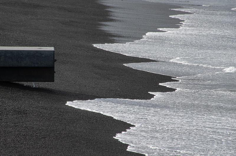 Black sand beach at Napier