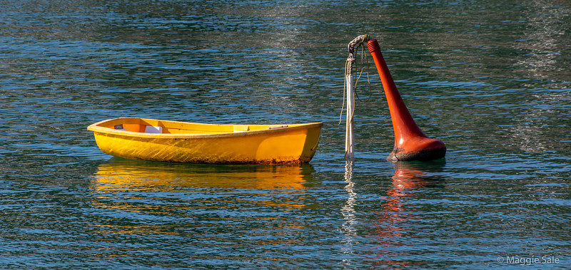 Small rowboat in the harbour at Russell.