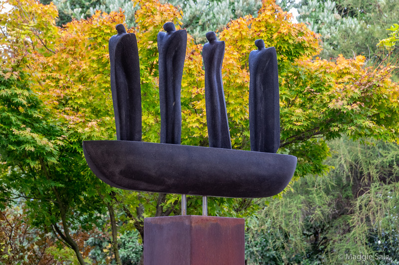 Sculptures in garden at Government House