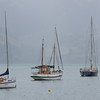 Sailing boats at Akaroa