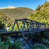 River gorge and bridge on the way to Haast Pass