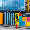 Some of the colourful hoarding around town where they are going to reconstruct buildings