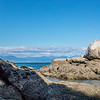Split Apple rock in Abel Tasman NP. Viewed from a different angle this large boulder is split open like an apple.