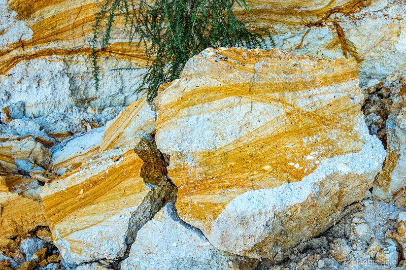 Interesting rock strata at Abel Tasman NP.