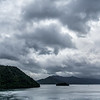 Queen Charlotte Sound from the ferry, sailing towards Picton.