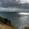 It was another day of sun and showers - views across the bay from the lighthouse walk.