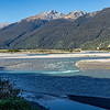 Haast River as it nears the Tasman Sea on the west coast