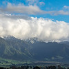 The Kaikoura mountain range reappears with snow!