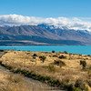 Lake Pukaki. Mount Cook NP on the right side, far shore
