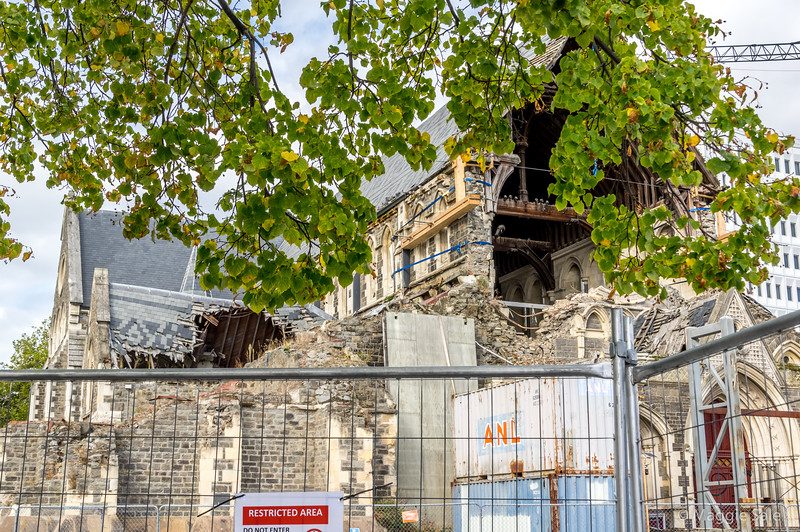 A sad sight still in Christchurch, where the work on the cathedral restoration hasn't yet begun after the devastating earthquakes in 2010/11.