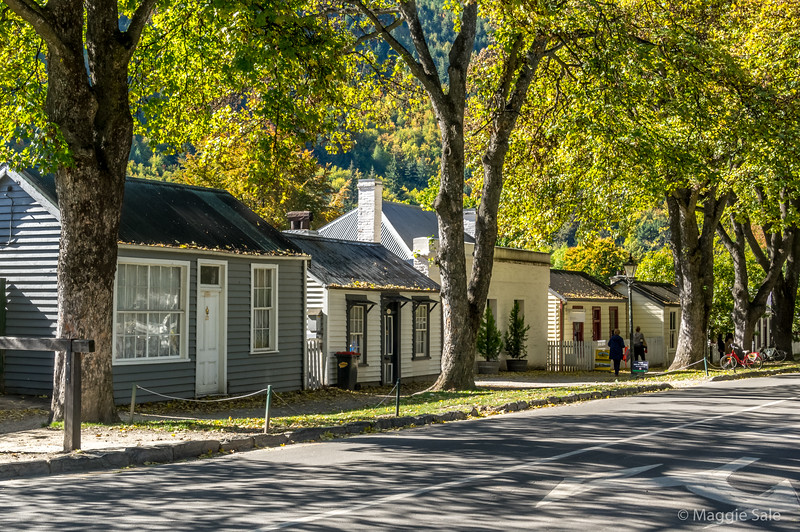 Arrowtown is a former gold mining town with many original buildings and charm
