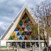 The new temporary cathedral, known as the Cardboard cathedral as it's built with tubes of cardboard! It's beautiful and will be in use for at least the next 10 years as it is expected to take that long to reconstruct the original.