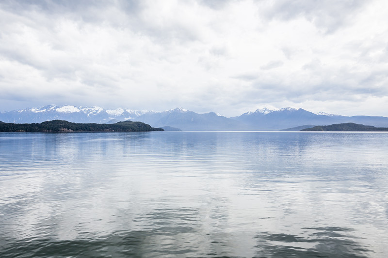 Lake Manapouri in the morning just outside of Pearl Harbour and right before it started raining.