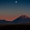 Moonrise over Mount Doom