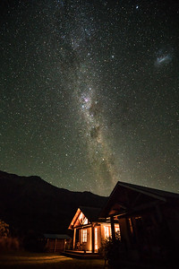 Milky Way over the Wild Earth Lodge B&B | Makarora, New Zealand