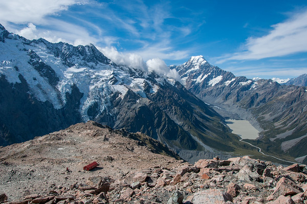 Hut and Mt Cook