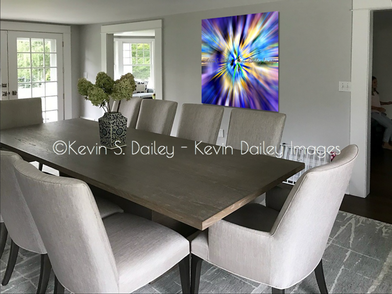 """""""Passion"""" in 48"""" x 48"""" Dye Sublimation Print"""