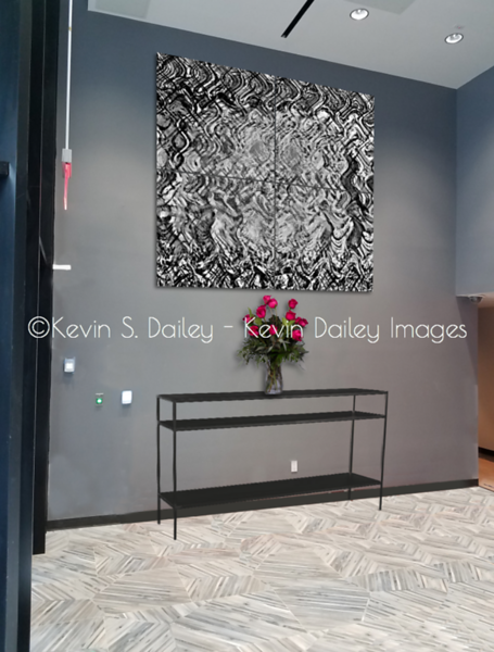 """""""Crossing the Grid"""" in a 4x4 setup proposed to be Dye Sublimation printed on aluminum"""