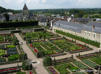 Villandry Castle in the Loire Valley, France © 2002 Colleen M. Griffith. All Rights Reserved.  This material may not be published, broadcast, modified, or redistributed without written agreement with the creator.  This image is registered with the US Copyright Office.