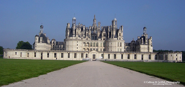 Chambord Castle in the Loire Valley, France © 2002 Colleen M. Griffith. All Rights Reserved.  This material may not be published, broadcast, modified, or redistributed without written agreement with the creator.  This image is registered with the US Copyright Office.