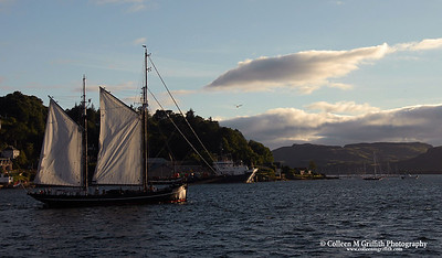 Sailing In Oban  © 2005 Colleen M. Griffith. All Rights Reserved.  This material may not be published, broadcast, modified, or redistributed without written agreement with the creator.  This image is registered with the US Copyright Office.   www.colleenmgriffith.com www.facebook.com/colleen.griffith  Isle of Skye, Scotland