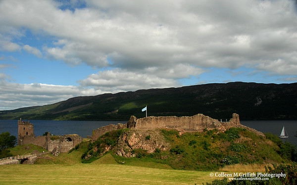 """Loch Ness Castle<br /> <br /> © 2005 Colleen M. Griffith. All Rights Reserved.  This material may not be published, broadcast, modified, or redistributed without written agreement with the creator.  This image is registered with the US Copyright Office.  <br />  <a href=""""http://www.colleenmgriffith.com"""">http://www.colleenmgriffith.com</a><br />  <a href=""""http://www.facebook.com/colleen.griffith"""">http://www.facebook.com/colleen.griffith</a><br /> <br /> Isle of Skye, Scotland"""