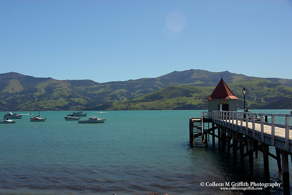 """Harbor in Akaroa, New Zealand<br /> © 2007 Colleen M. Griffith. All Rights Reserved.  This material may not be published, broadcast, modified, or redistributed in any way without written agreement with the creator.  This image is registered with the US Copyright Office.<br />  <a href=""""http://www.colleenmgriffith.com"""">http://www.colleenmgriffith.com</a><br />  <a href=""""http://www.facebook.com/colleen.griffith"""">http://www.facebook.com/colleen.griffith</a>"""