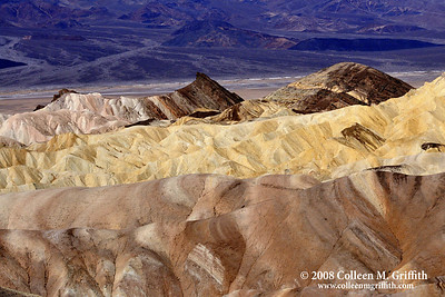 Layers © 2008 Colleen M. Griffith. All Rights Reserved.  This material may not be published, broadcast, modified, or redistributed in any way without written agreement with the creator.  This image is registered with the US Copyright Office. www.colleenmgriffith.com www.facebook.com/colleen.griffith  Zabriskie Point, Death Valley CA