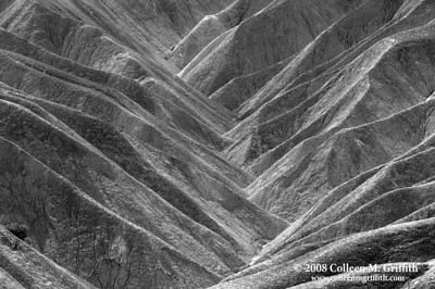 Zabriskie Point, Death Valley CA © 2008 Colleen M. Griffith. All Rights Reserved.  This material may not be published, broadcast, modified, or redistributed in any way without written agreement with the creator.  This image is registered with the US Copyright Office. www.colleenmgriffith.com www.facebook.com/colleen.griffith