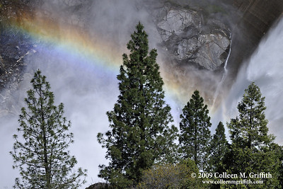 Rainbow © 2009 Colleen M. Griffith. All Rights Reserved.  This material may not be published, broadcast, modified, or redistributed in any way without written agreement with the creator.  This image is registered with the US Copyright Office. Hetch Hetchy Damn, California Friend me on Facebook