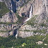 "All of Yosemite Falls © 2009 Colleen M. Griffith. All Rights Reserved.  This material may not be published, broadcast, modified, or redistributed in any way without written agreement with the creator.  This image is registered with the US Copyright Office. www.colleenmgriffith.com www.facebook.com/colleen.griffith  You can get an idea of the scale of the falls by comparing the size to the road and cars that you can see in the bottom of this photo.  Yosemite is one of my favorite places in California. <a href=""http://www.facebook.com/colleen.griffith"">Friend me on Facebook"