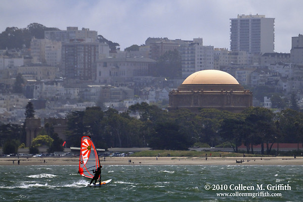 """Windsurfing in the Bay<br /> ©  2010 Colleen M. Griffith. All Rights Reserved.  This material may not be published, broadcast, modified, or redistributed in any way without written agreement with the creator.  This image is registered with the US Copyright Office.<br />  <a href=""""http://www.colleenmgriffith.com"""">http://www.colleenmgriffith.com</a><br />  <a href=""""http://www.facebook.com/colleen.griffith"""">http://www.facebook.com/colleen.griffith</a>>"""