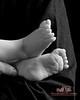 Baby Feet B&W