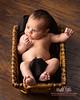 new born in basket
