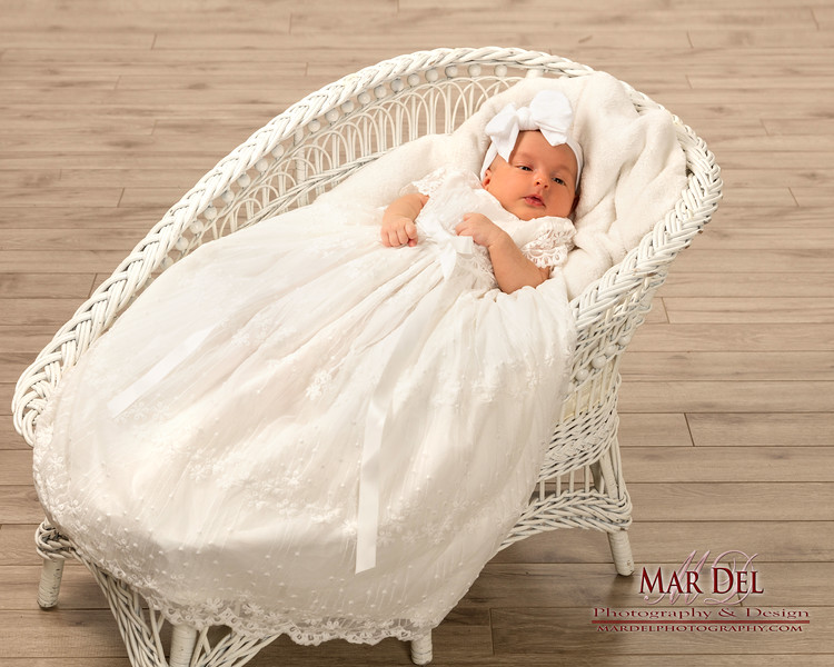 baby portrait in bassinet
