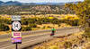 New Mexico - Cyclist on Turquoise Trail 2 miles north of Cerrillos- D5-C3-0014 - 72 ppi-3