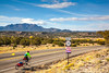 New Mexico - Cyclist on Turquoise Trail 2 miles north of Cerrillos- D5-C3-0006 - 72 ppi-2