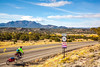 New Mexico - Cyclist on Turquoise Trail 2 miles north of Cerrillos- D5-C3-0005 - 72 ppi-2