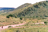 Cyclist on NM 107, Sibley's retreat route around Fort Craig - 2 - 72 ppi