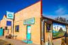 New Mexico - Muralist Eddie Tsosie at Bear Mountain Coffeehouse in Magdelena - D7-C2-0008 - 72 ppi