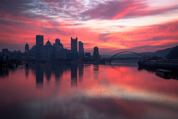 """Pink Dawn"" - Pittsburgh, West End   Recommended Print sizes*:  4x6  