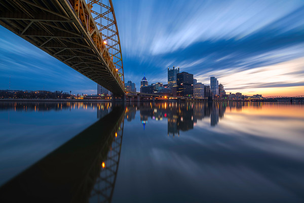 """""""Blue Streak"""" - Pittsburgh, South Shore Shore   Recommended Print sizes*:  4x6      8x12     12x18     16x24     20x30     24x36   30x45   40x60 *When ordering other sizes make sure to adjust the cropping at checkout*  © JP Diroll 2018"""