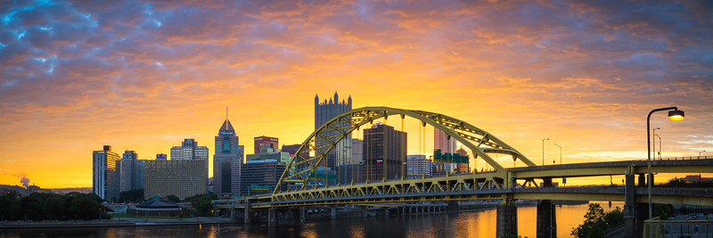 """Strong as Steel (Panoramic)"" - Pittsburgh, South Side   Recommended Print sizes*:  5x15  